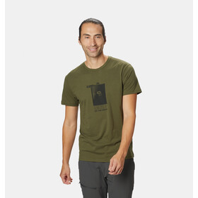 Mountain Hardwear Straight Up Camiseta Manga Corta Hombre, dark army